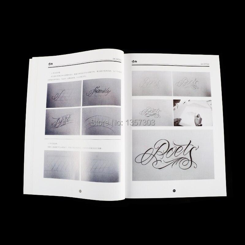 1936 A4 Chicano Fuente De Caligrafía Letras Tatuaje Libro Escrito Patrón De Diseño De Plantilla De Diseño De Tatuaje Flash Libro En