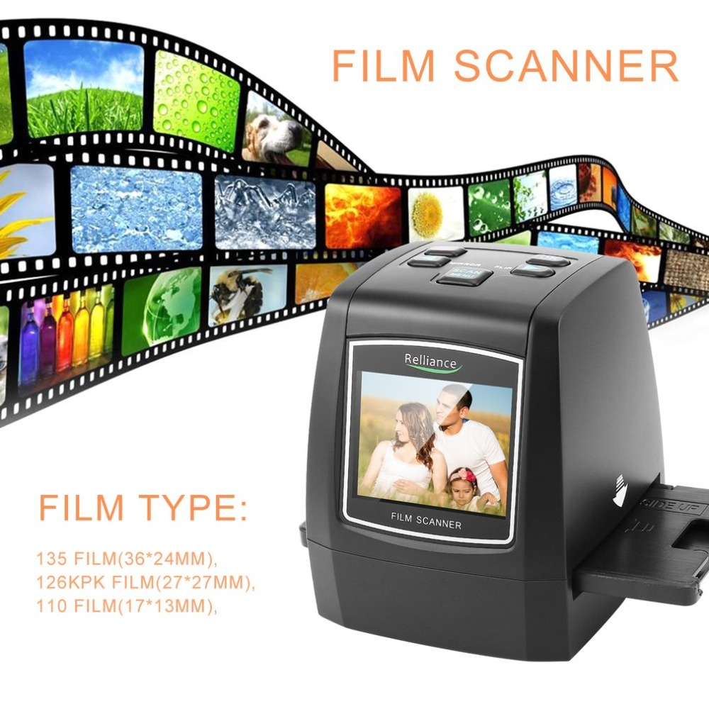 WL18 All-In-1 Film Scanner Slide Scanner Automatic B&W Slides Negatives CMOS Sensor Speed-Load Adapters Super 8 Films Scanner