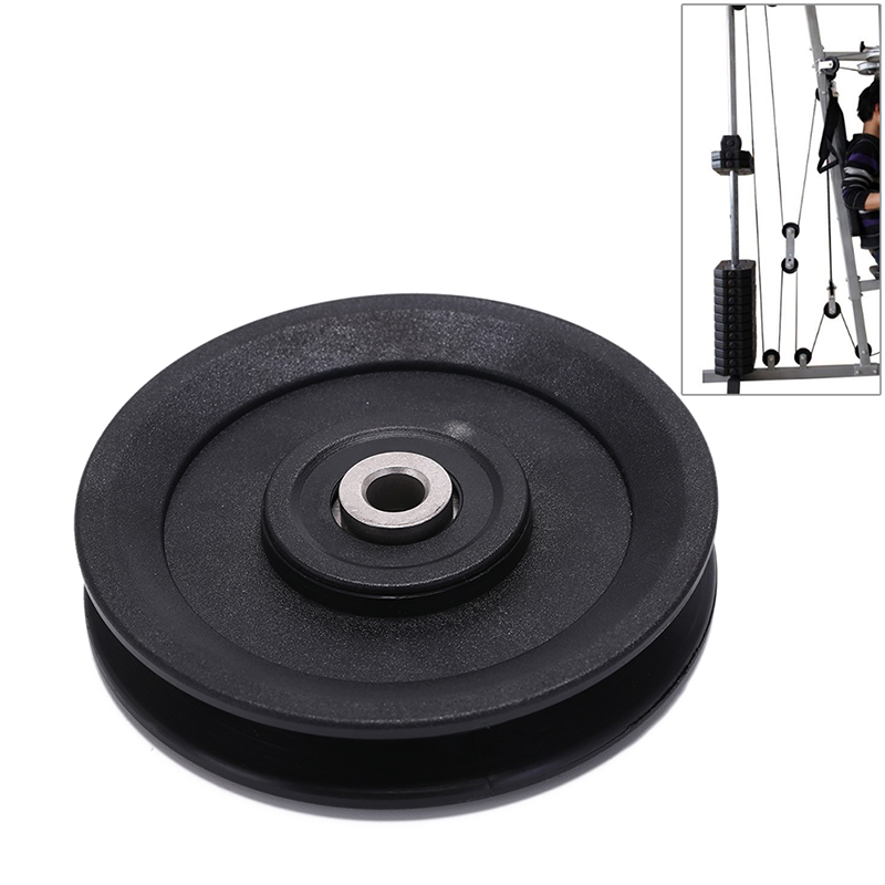 1Pc High Quality Bearing Pulley 115mm Wearproof Nylon Bearing Pulley Wheel Cable Gym Universal Fitness Equipment Part