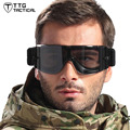 Mens Military Issue Tactical Goggles Military Airsoft Swat Glasses with 3 Interchangeable Lenses Smoke Yellow Clear