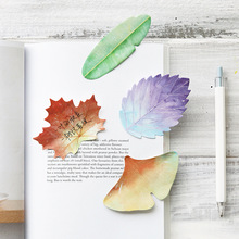 24 pcs/Lot Original collection Leaf sticky notes Green Lotus Banana Red Maple leaf stickers Stationery School supplies FM005