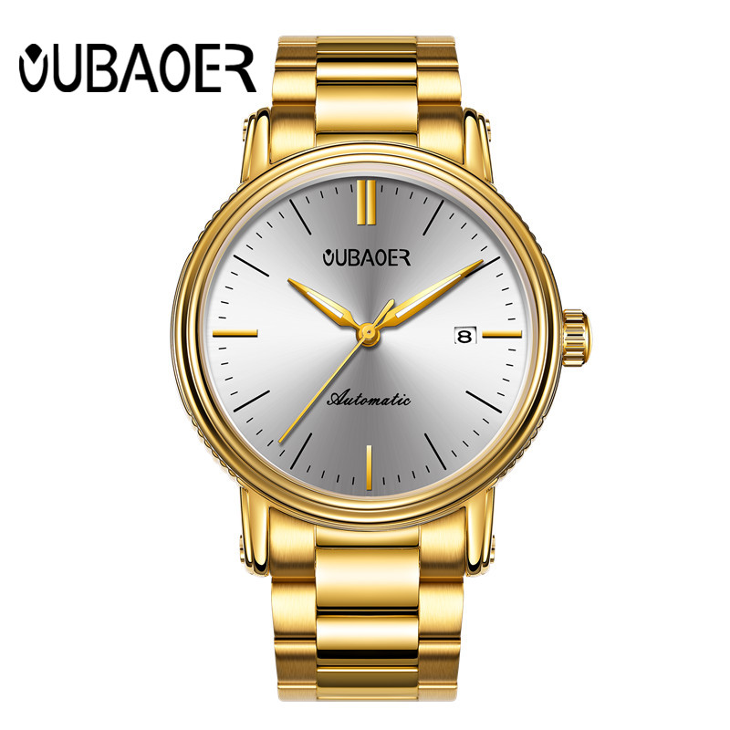 OUBAOER Men Watches Top Brand Luxury Mechanical Watch Men Business Wristwatch Army Military Automatic Watches Male Clock didun mens automatic mechanical watches top brand luxury watches men steel army military watches male business wristwatch clock
