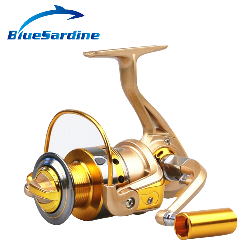 New Spinning Reel Fishing pesca coil Fishing Reel Golden Metal Spool 10BB 5.5:1
