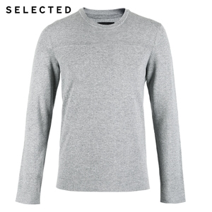 Image 5 - SELECTED New 100% Cotton Business Casual Pullover Knitted Mens Pure Color Sweater Clothes S