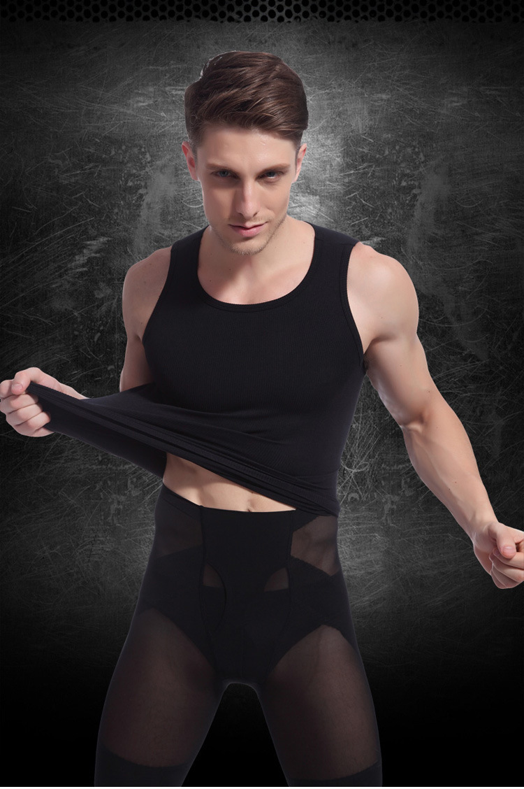 Man's 100% cotton pure color seamless underwear clothing close-fitting broad shoulders V neck vest comfortable undershirt