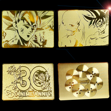 Dragon Ball Gold Plated 30th Anniversary Cards