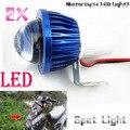 2x Motorcycle Headlight Fisheye Lens LED Head Light Driving Fog Spot Lamp Night Safety Headlamp 6W