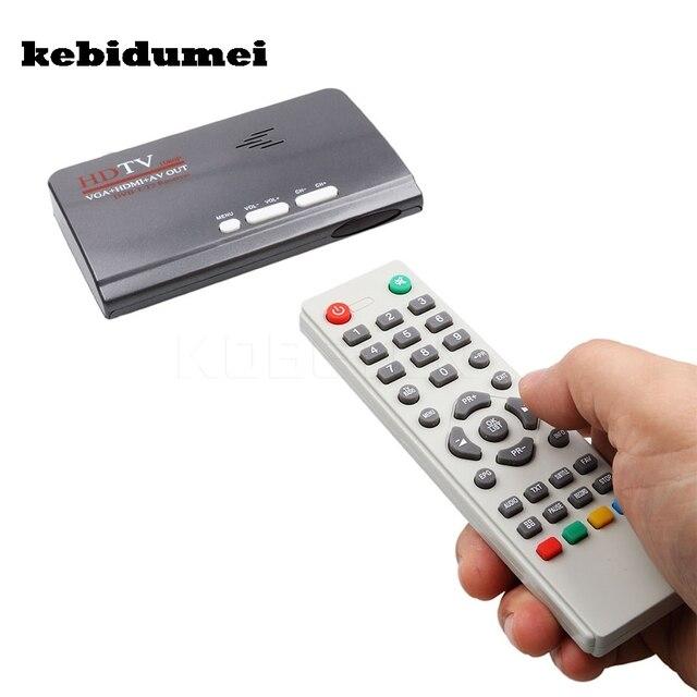 Kebidumei nova quente digital terrestre dvb t/t2 caixa de tv + controle remoto vga av cvbs sintonizador receptor hd 1080 p vga DVB T2 caixa de tv