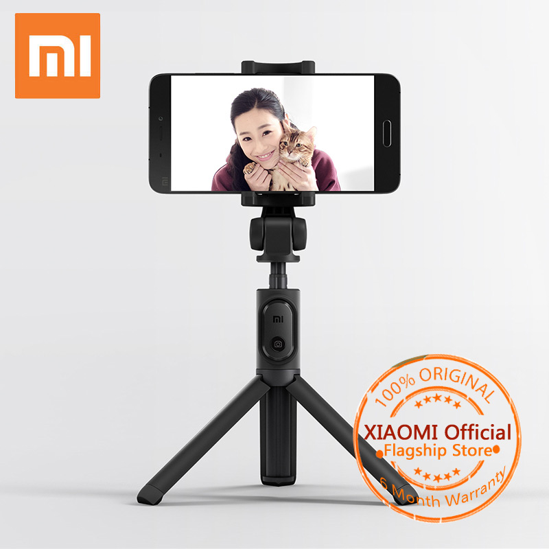Xiaomi Selfie Stick Bluetooth Foldable Tripod Selfiestick With Wireless Shutter Selfie Stick For iPhone Samsung  Xiaomi LG HTC