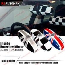 Подкладке Зеркала заднего вида Кепки В виде ракушки для Mini Cooper One S Countryman R55 R56 r57 R60 R61 Юнион Джек аксессуары стикер