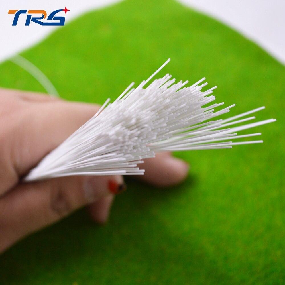 Teraysun 100 pces 1.5*1.5mm haste redonda plástico abs vara redonda JYG-1.5 50cm de comprimento