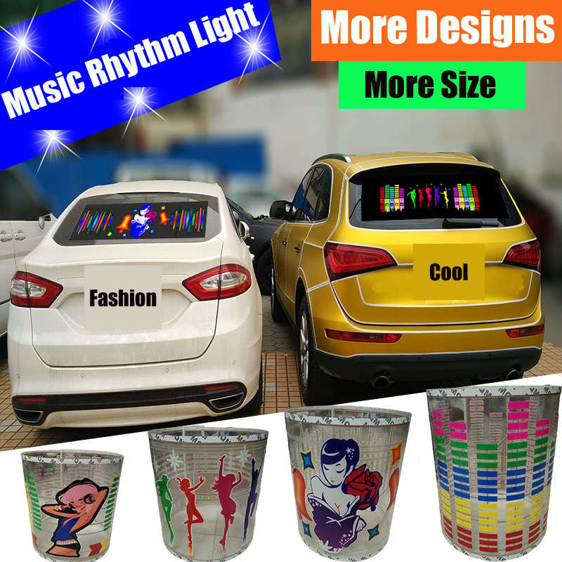 Car Music Rhythm Sticker Cool Flash Light High Quality Sound Activated Equalizer
