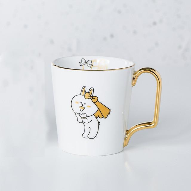 Gold Lucky Numbers Age 16 18 30 Animal Flamingo Cat Ceramic Coffee Mug Breakfast Milk Water Cup Couple Creative Birthday Gifts Mugs Aliexpress