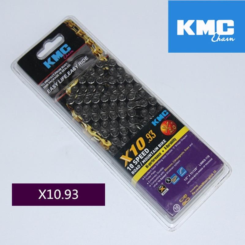 KMC X8 X9 X9sl X10 X10sl X11SL Super Licht doppel X kette 9 10 11 geschwindigkeit mtb rennrad fahrrad kette titan gold silber farbe