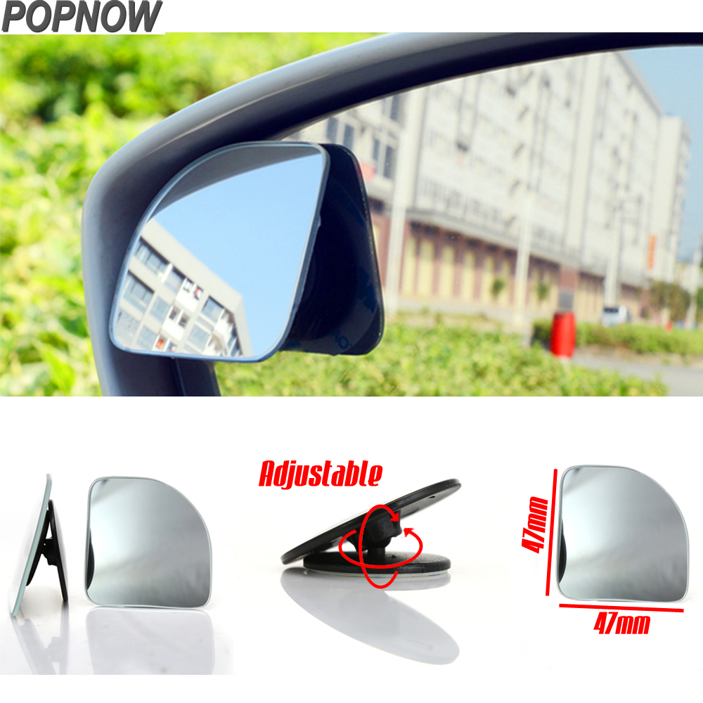 2pcs/Lot Auto Car Blind Spot Mirrors 360 Degree Adjustable Universal Auto Wide Angle Convex Rearview Mirrors Car Styling #7710