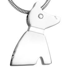 Stainless Steel Pet Dog Cremation Memorial Necklace for Ashes Urn Keepsake Pendants Jewelry IJD8185