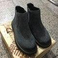 CCTWINS KIDS otoño de tobillo negro botas de los bebés marca chelsea botas para niños zapatos niños moda cuero genuino botas grises