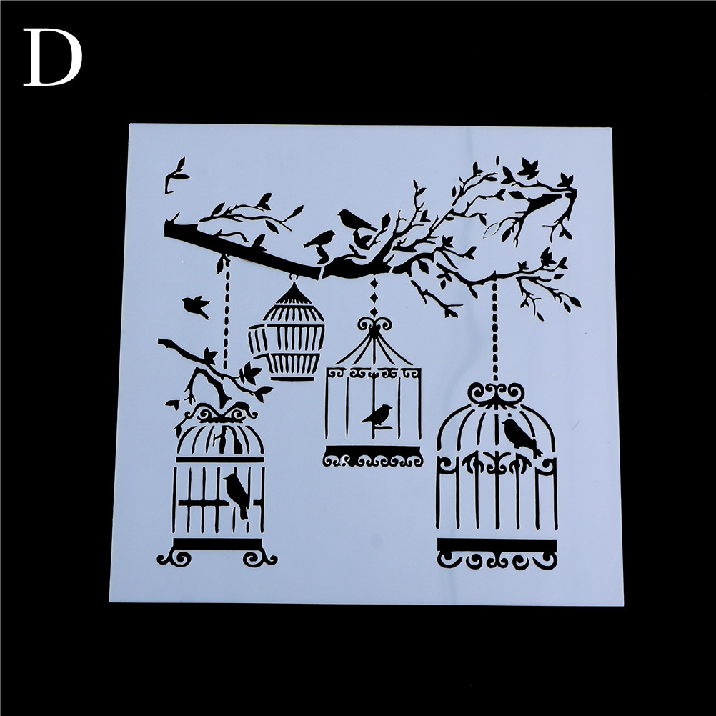 New DIY Craft Layering Cage Tree Brids Stencils For Wall Painting Scrapbooking Album Decorative Paper Cards
