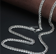 "Perfect Solid AU750  White Gold Necklace / Wheat Chain 25.6 "" L 13.8g"