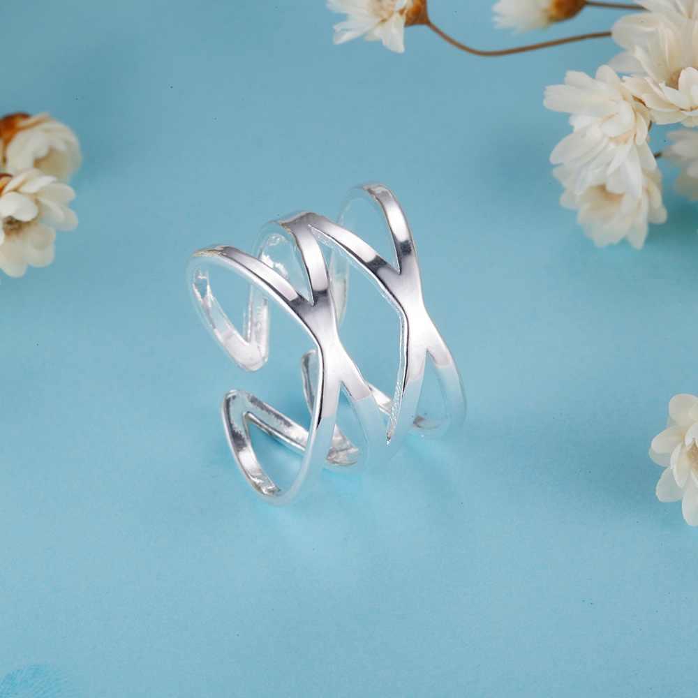 925เครื่องประดับเงินชุบแหวนที่มีเสน่ห์เพิ่มขึ้นแหวนแต่งงานสำหรับผู้หญิงของขวัญวาเลนไทน์PJ267