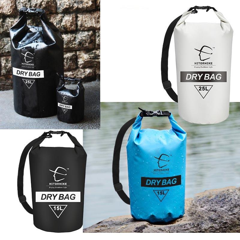 15L 25L Saco Natação Saco Impermeável Saco Seco Para Equipamentos de Canoagem Kayak Rafting Sacos de Desporto Ao Ar Livre Kit de Viagem saco de armazenamento 2018