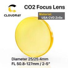 """كلودراي الولايات المتحدة الأمريكية CVD ZnSe عدسات تركيز ضياء. 25/25. 4 مللي متر FL50.8/63.5/101.6 مللي متر 2 5 """"ل CO2 النقش بالليزر آلة قطع شحن مجاني"""