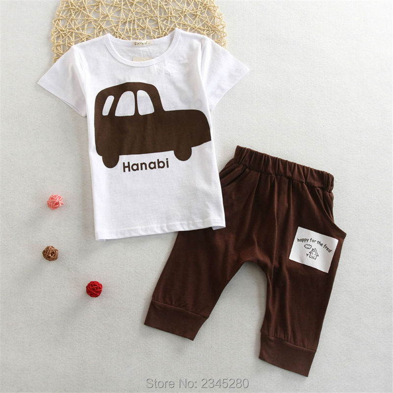Kids Clothes Children Sets Clothing Boys Girls Clothes Car Print T Shirts Suits Short Sleeve Sport Suit Summer Kids Clothes Boys04