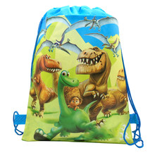 Birthday Events Party Good Dinosaur Theme Decoration Mochila Happy Baby Shower Backpack Kids Favors Drawstring Gifts Bags 1PCS(China)