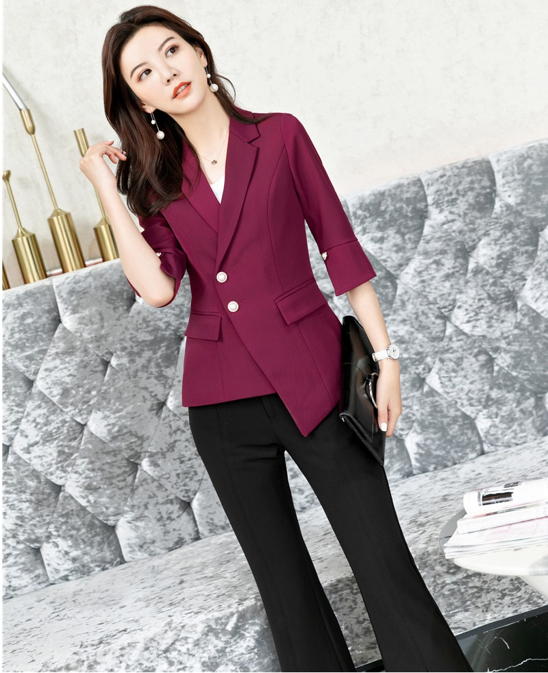Formal Uniforms Designs Pantsuits With 2 Piece Jackets And Pants For Women Business Suits Ladies Office Work Wear Blazers Sets