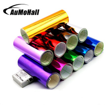 цена на AuMoHall Chrome Mirror Car Vinyl Wrap Sticker with Free Air Bubble DIY Wrap Sheet Film Car Sticker Decal Car Styling 20M*1.52M