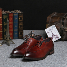 top quality men fashion business dress personalized shoes Qshoes real cowskin carved leather lace-up men's casual shoe ke1017