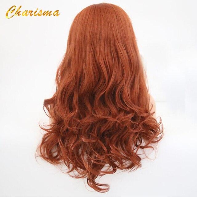 Charyzma ciała koronkowa fala peruka front s wolna część czerwona peruka syntetyczna koronka peruka front włosy z włókna wysokowytrzymałego kobiety peruki