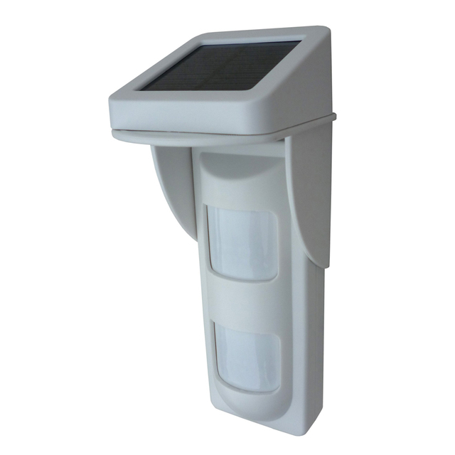 Outdoor Wireless Solar Dual Infrared Sensor PIR with Single Voice Alert Waterproof  IP65 Design for Sound and Light Alarming 5