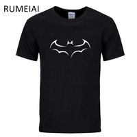 RUMEIAI 2017 New 100 COTTON Men T Shirt Casual Short Sleeve T Shirt For Men Batman
