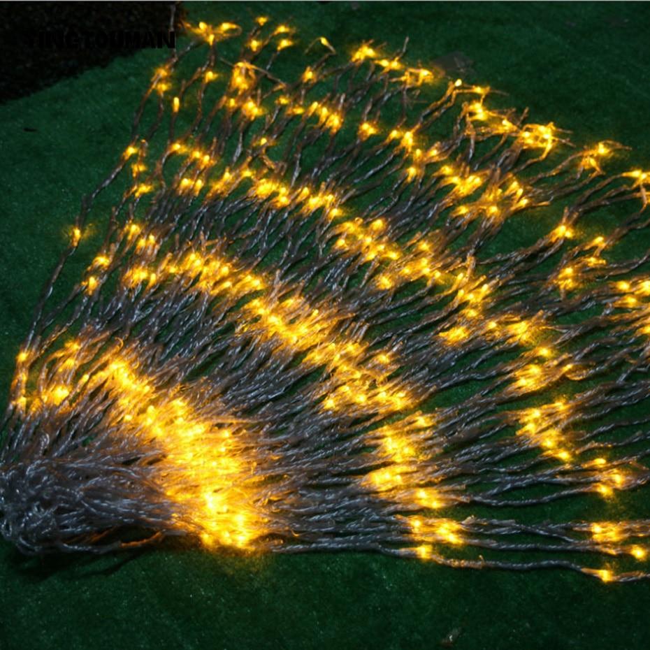YINGTOUMAN весенний подводный светильник, подвесной светодиодный светильник, гирлянды для сада, Рождества, КТВ, вечерние праздничные декоративные светильники 6*3 м, 640 светодиодный