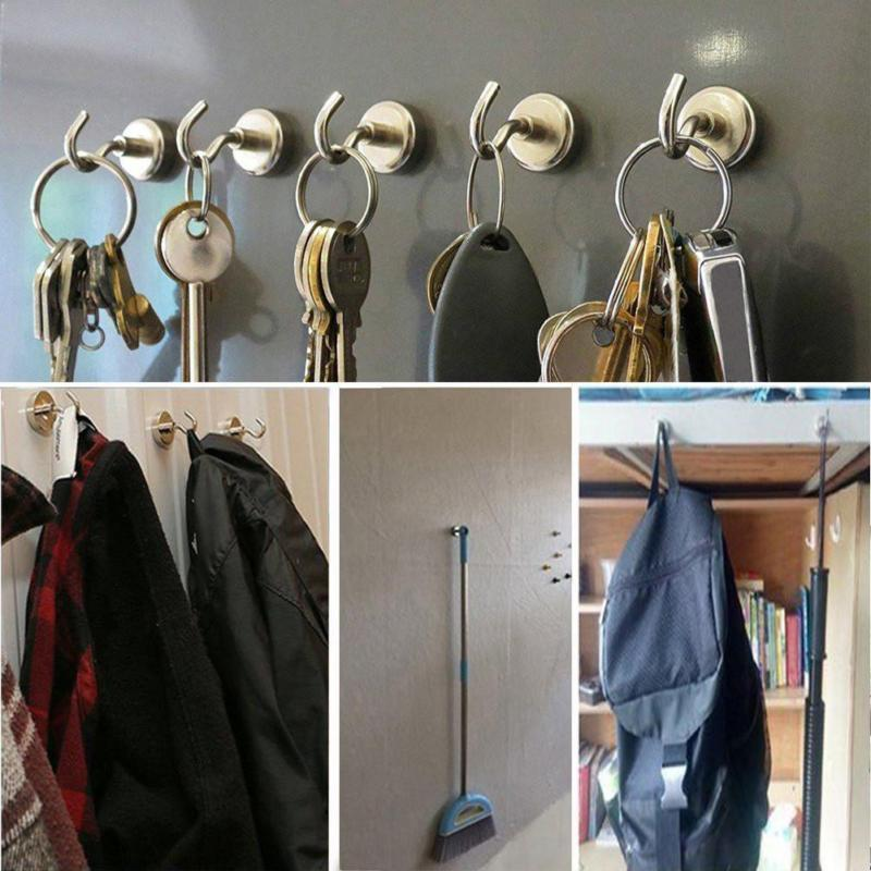New Strong Magnetic Hook Mini Heavy Duty Hanger Durable For Home Kitchen Refrigerator SF66
