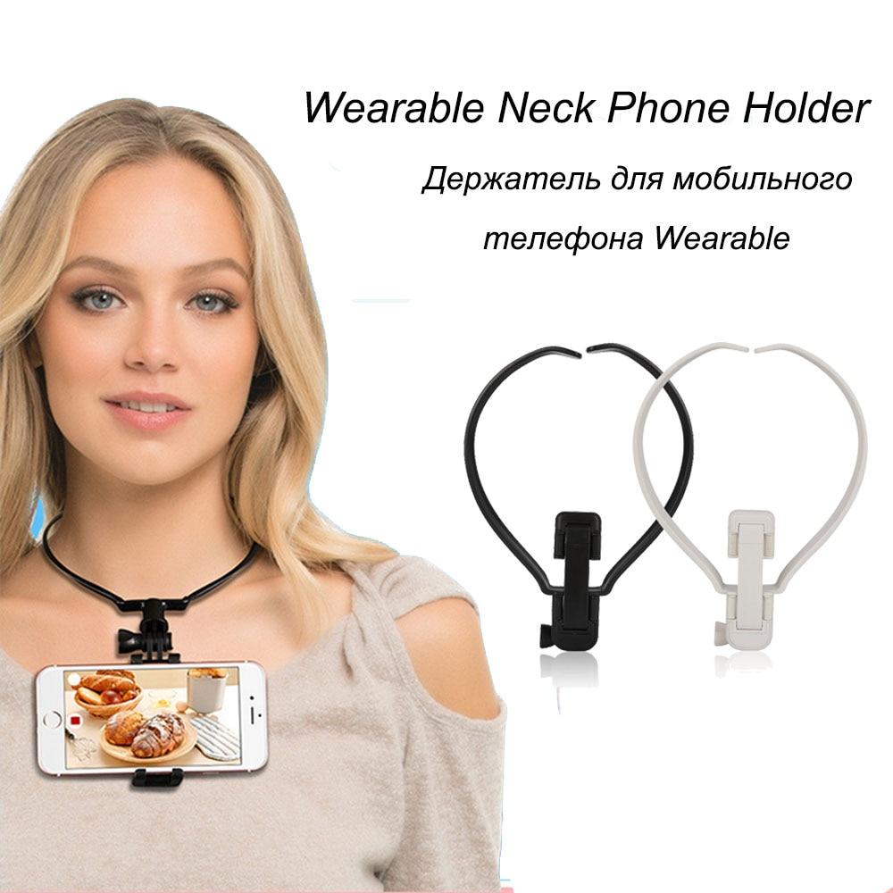 Wearable Smartphone Holder Hands Free Phone Mount Holder For IPhone Samsung Gopro Camera Camcorder POV Neck Mobile Phone Holder