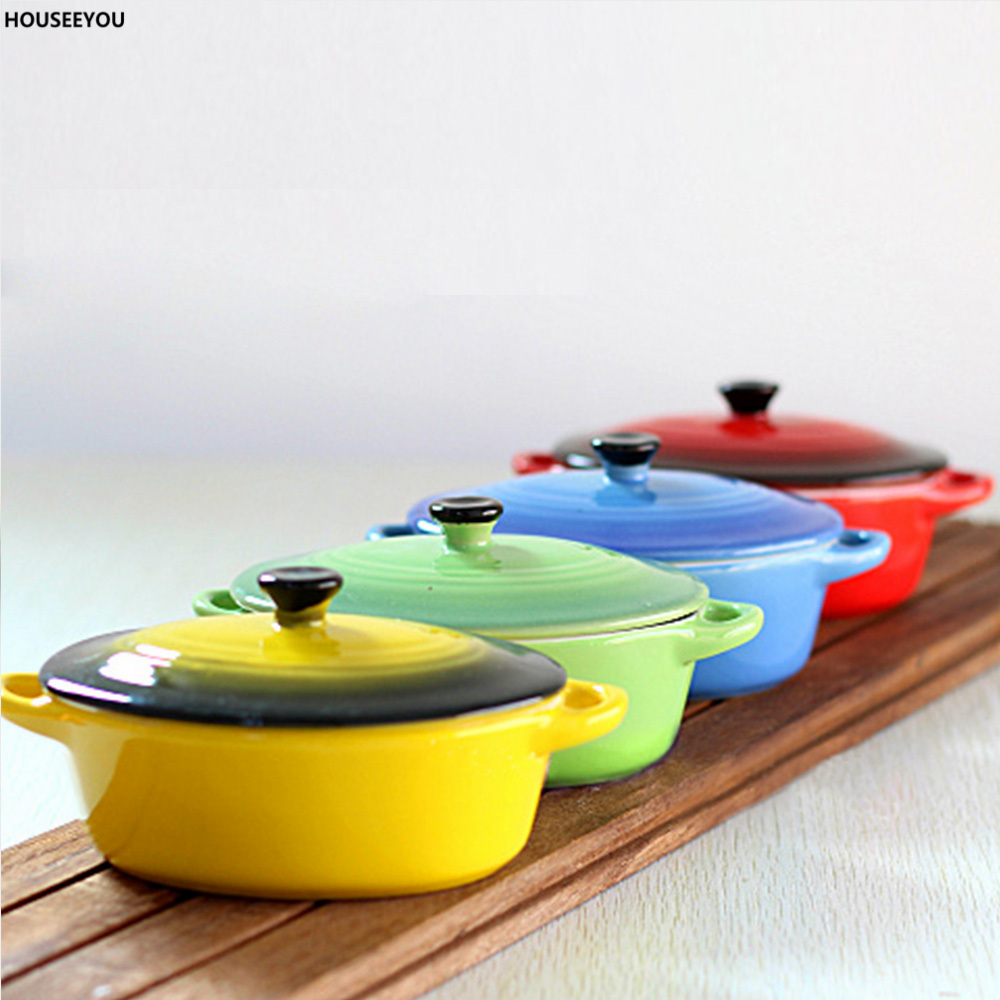 Oval Ceramic Baking Dishes Bake Bowl Interaural Withlid