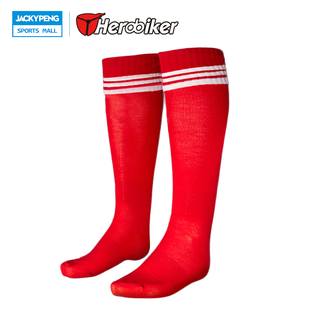 HEROBIKER Children Football Socks Soccer Socks Knee Legging Sport Socks Soccer Stocking for Boys Girls , 6 Color Size EU 28-37