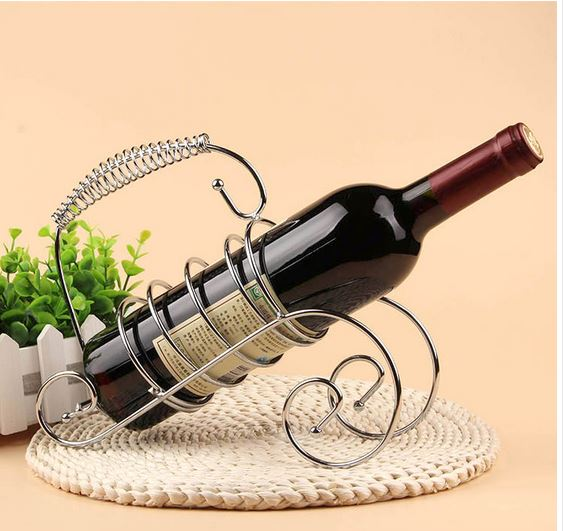 Wonderful Free Shipping Fashion Wine Rack Iron Bottle Holder Bar Accessories Crafts  Wedding Gift Decoration Bar Accessories