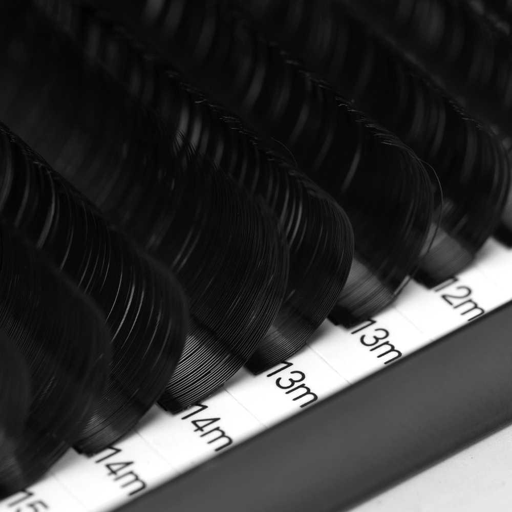 Оптовая продажа индивидуальные шелковые ресницы смешивания длина удлинитель для ресниц Накладные ресницы мягкие черные 16 строк микроблейдинг Макияж инструмент