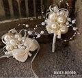 2 шт./компл. Кот свадебное жених бутоньерки партии корсажи свадебный запястье цветок невесты руки цветок флор en el ojal