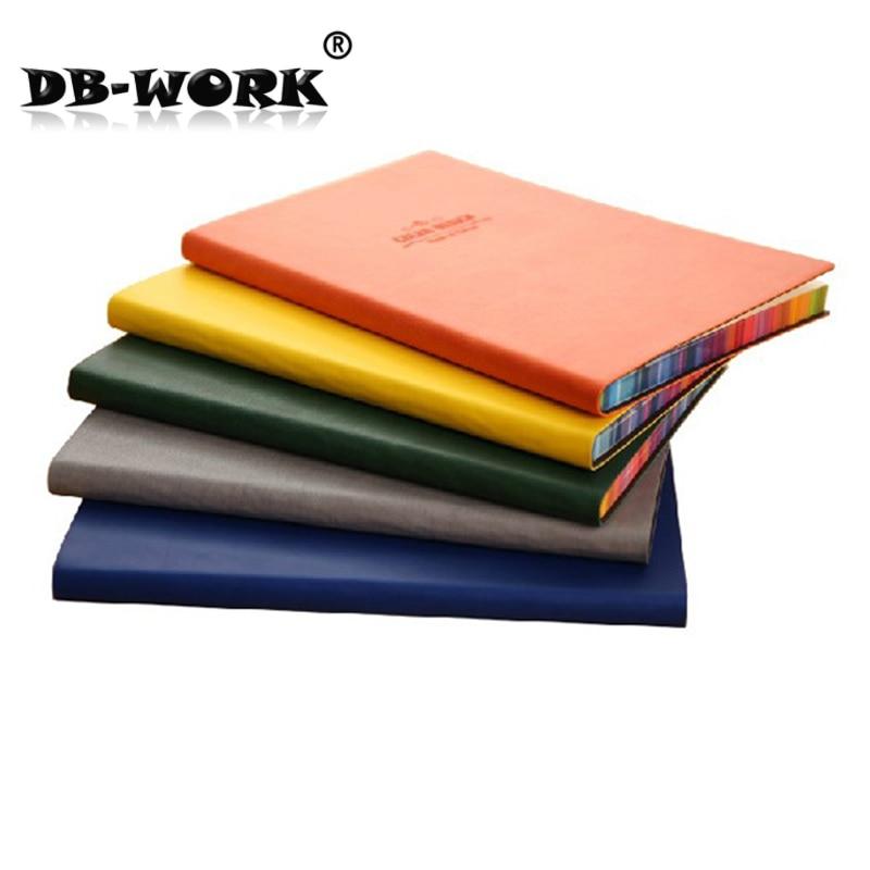A5 फैशन नोटबुक डेली 3183 लेदर फेस इस कलर स्प्रे साइड पु मटीरियल नोटपैड 25 k क्रिएटिव लॉग नोटबुक