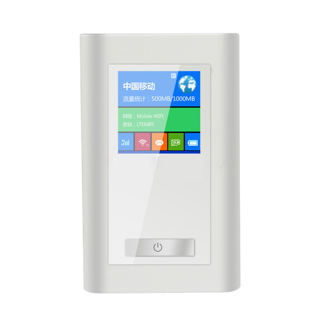 FDD-LTE GSM 4 Г Wi-Fi Маршрутизатор LR511A Портативным Разблокировать Dongle Беспроводной модем Две SIM Card Slot Порт RJ45 5200 МАч Power Bank