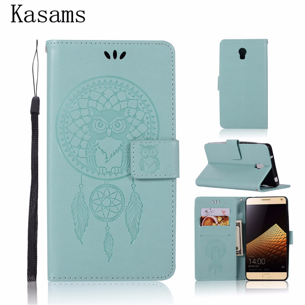 3D Coque For Lenovo Vibe P1 P1m P2 P2a42 Leather Case Flip Cover Magnetic Wallet Stand Pattern Owl Phone Shell Bag Capa P 1 2 m