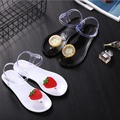 Summer Cool Slippers Women Crystal Fruit Jelly Shoes Flat Sandals