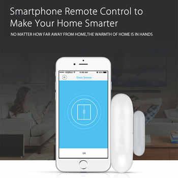 Smart Window Door Alarm WiFi Door Window Sensor Smart Home Security Tuya APP Control Compatible Amazon Alexa Google Home IFTTT