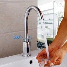 Новая современная кухня для ванной автоматическая руки сенсорный Бесплатная Сенсор бассейна хром латунь Раковина смеситель смесители авто-Сенсор кран