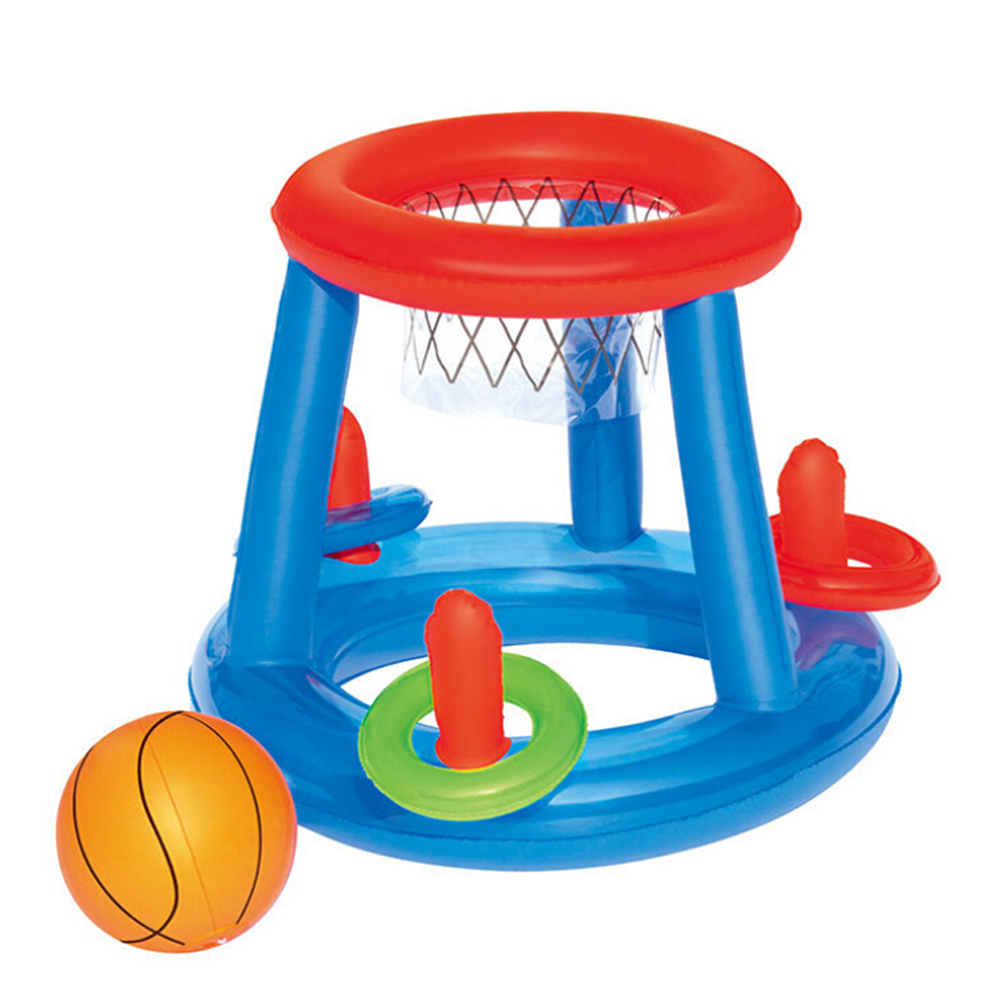 Swimming Pool Inflatable Basketball Basket Float Island Water Toys Party Toy Pool Floating Toys For Children Kids