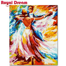 Waltz DIY Digital Oil Painting  Coloring By Numbers Paint On Canvas For Living Room